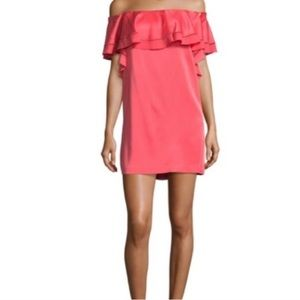 Rachel Zoe Pink Off the Shoulder Mini Dress, sz 2